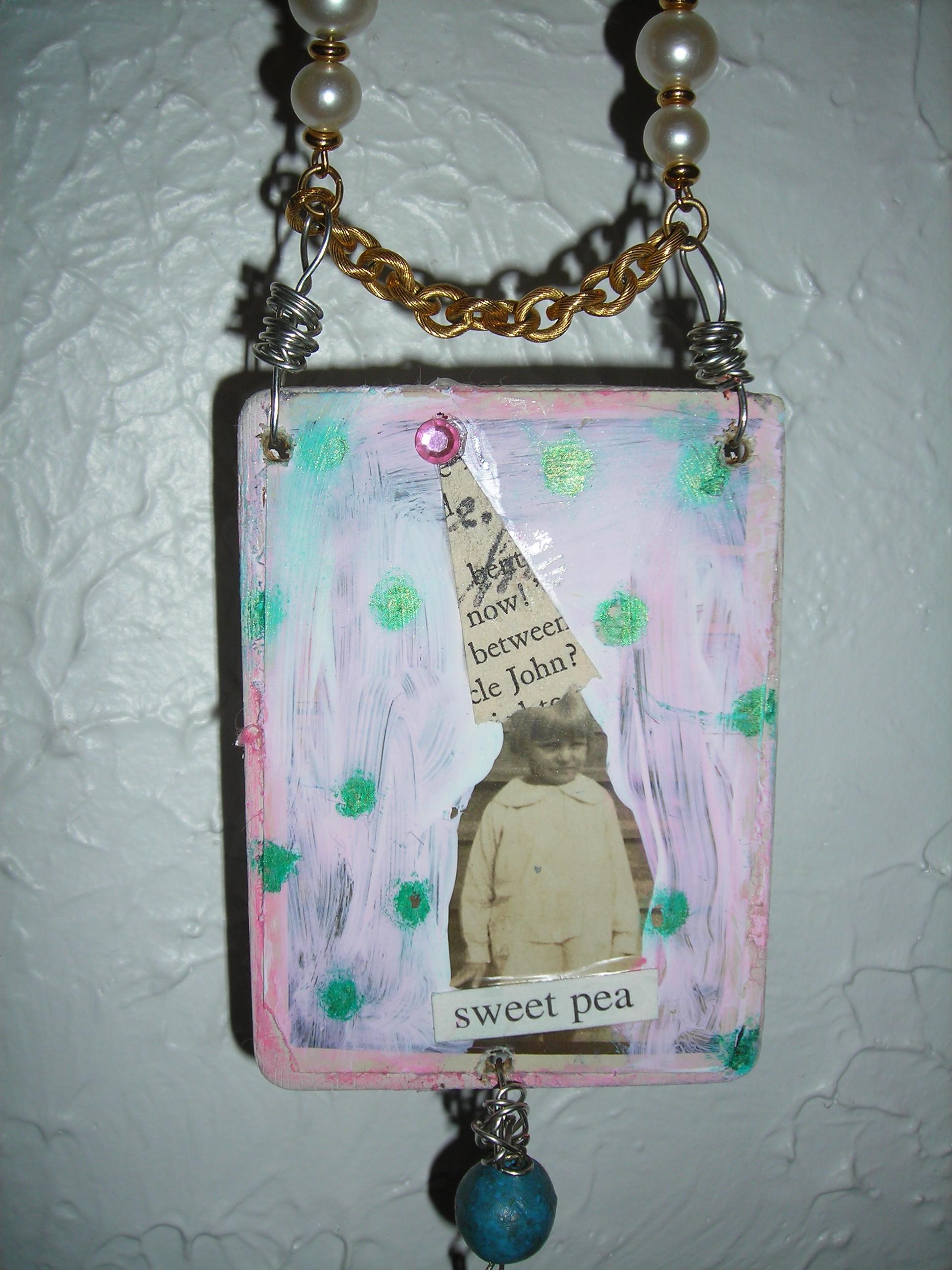 Darling little 'sweet pea' ... Sue's magic