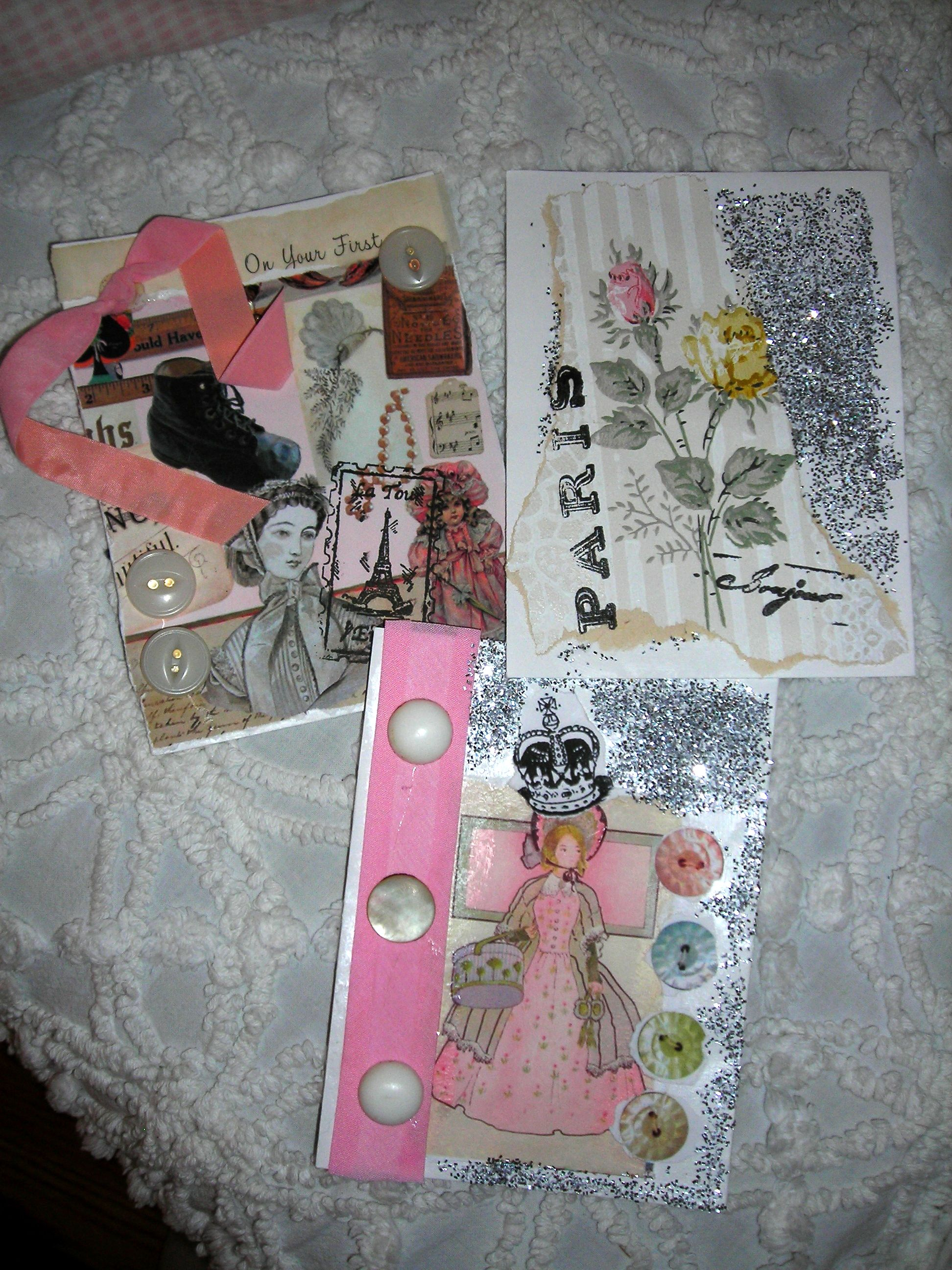 some handmade tags (yes, sue's stuff!)