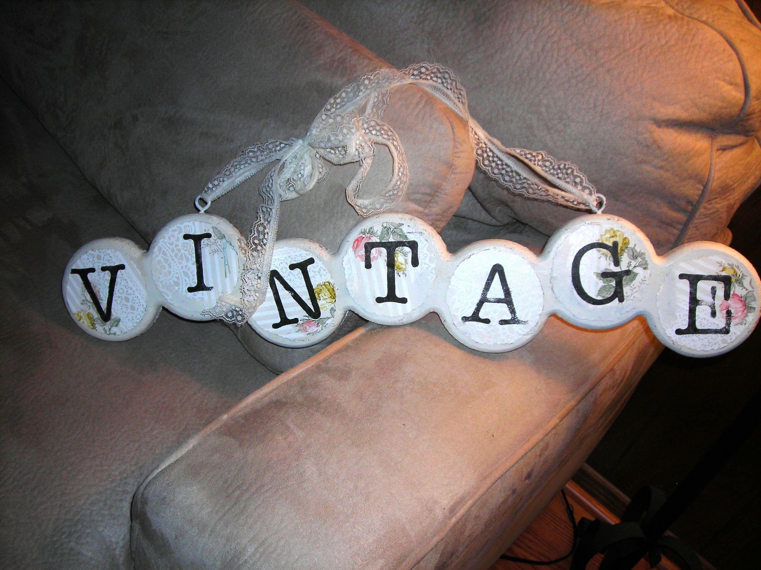 fun 'vintage' sign