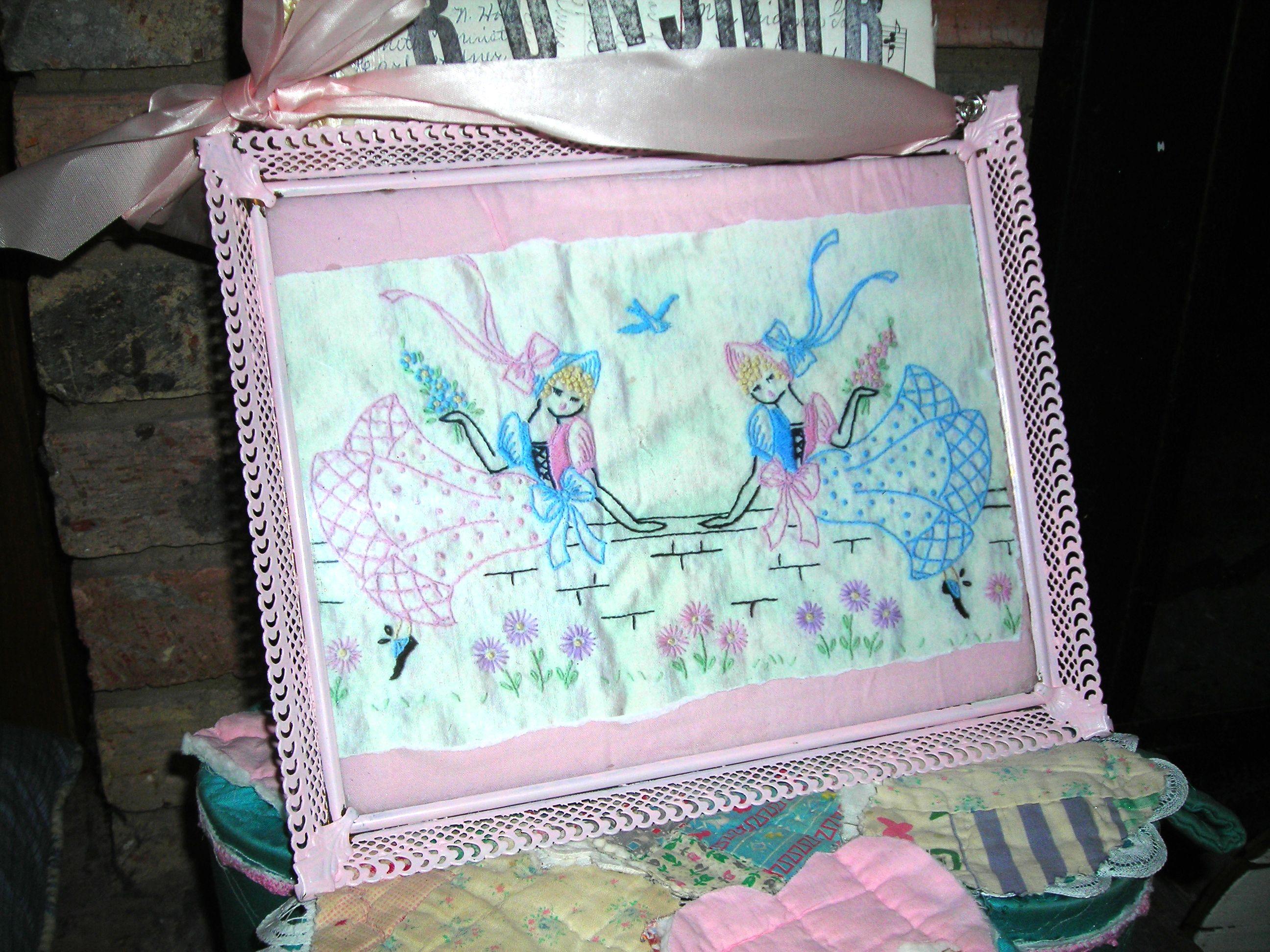 sweet ladies in a frame