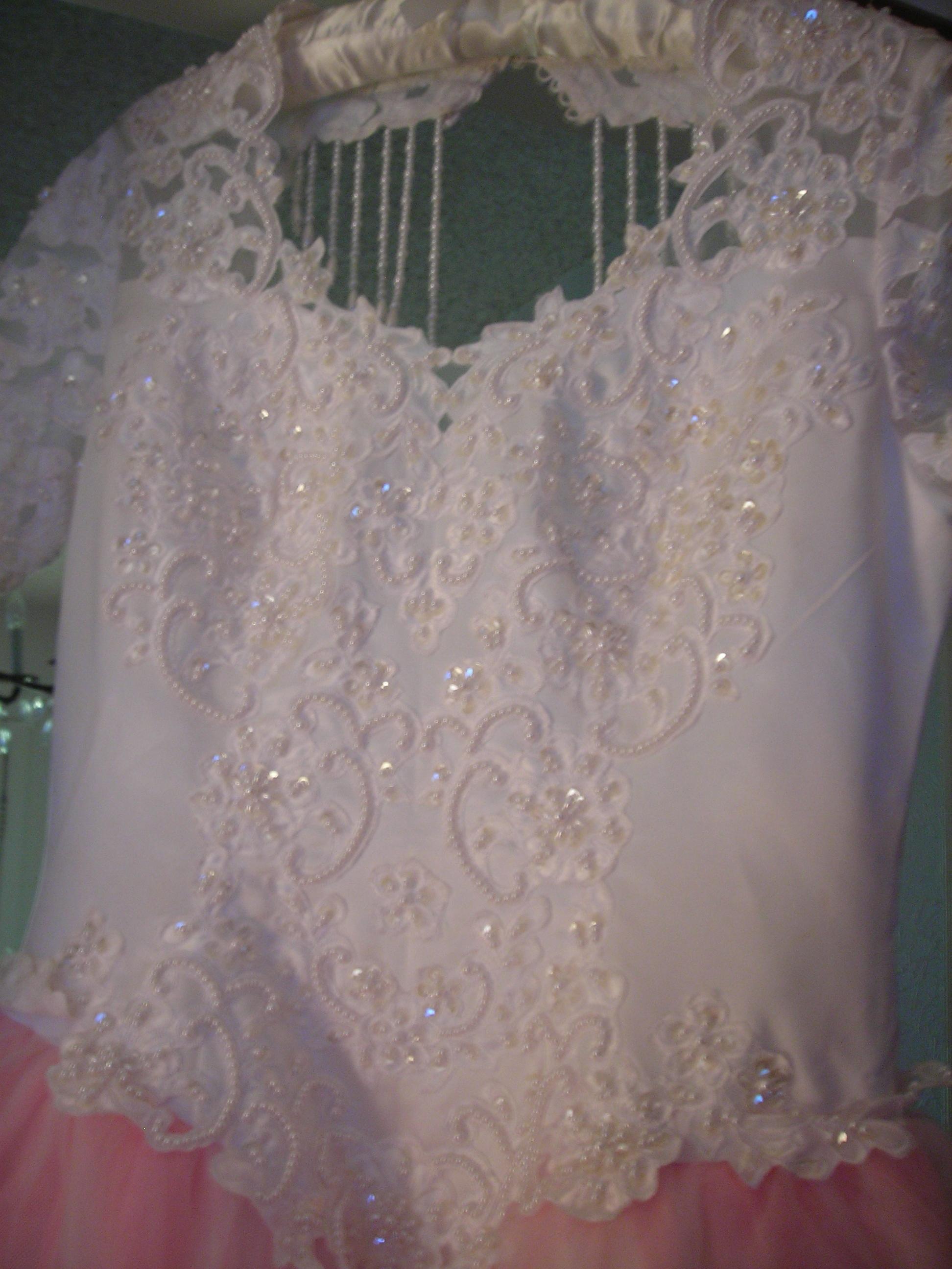 close up of fru fru dress