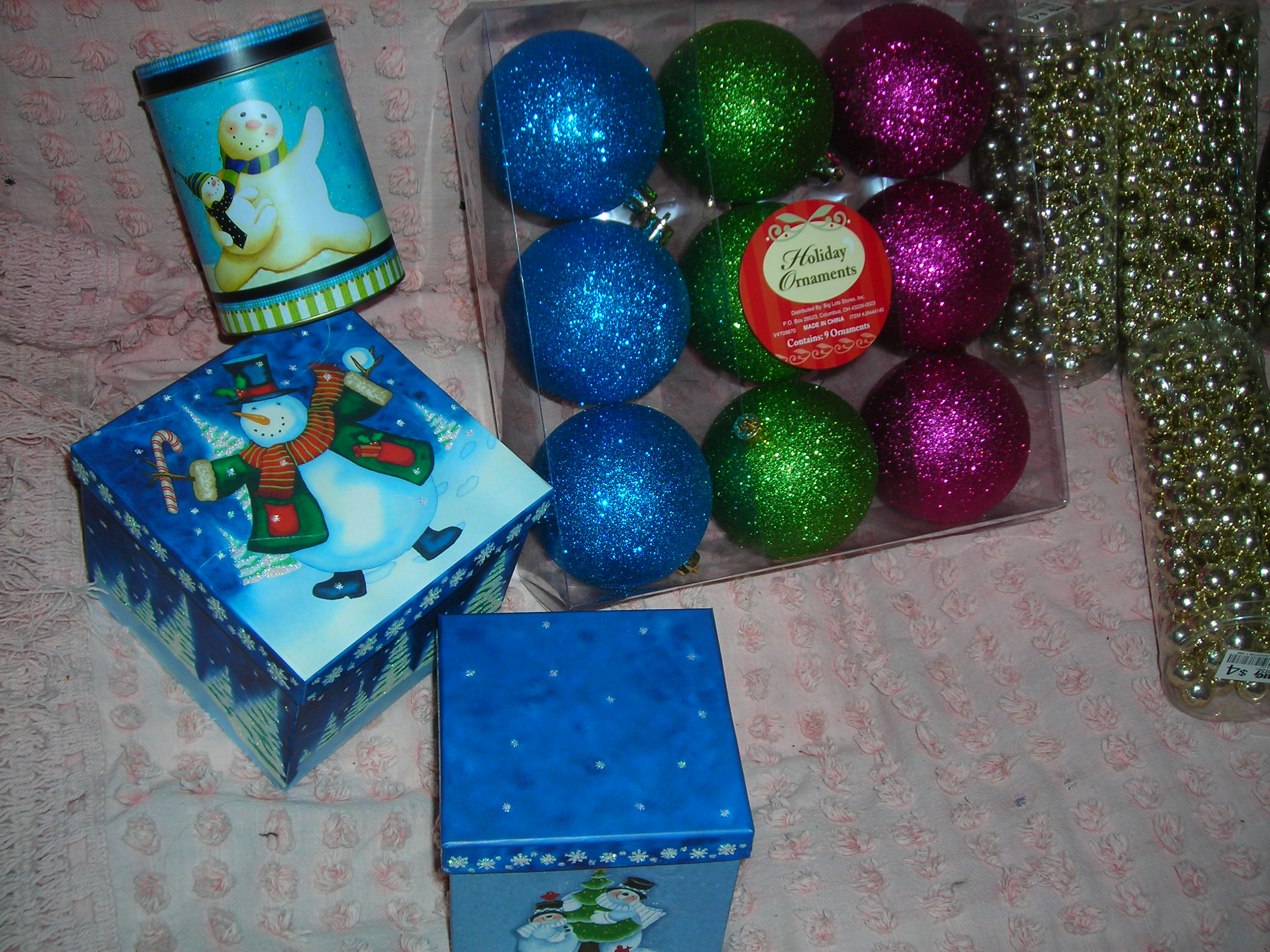 sweet boxes and tin and ornaments and ... and ... and