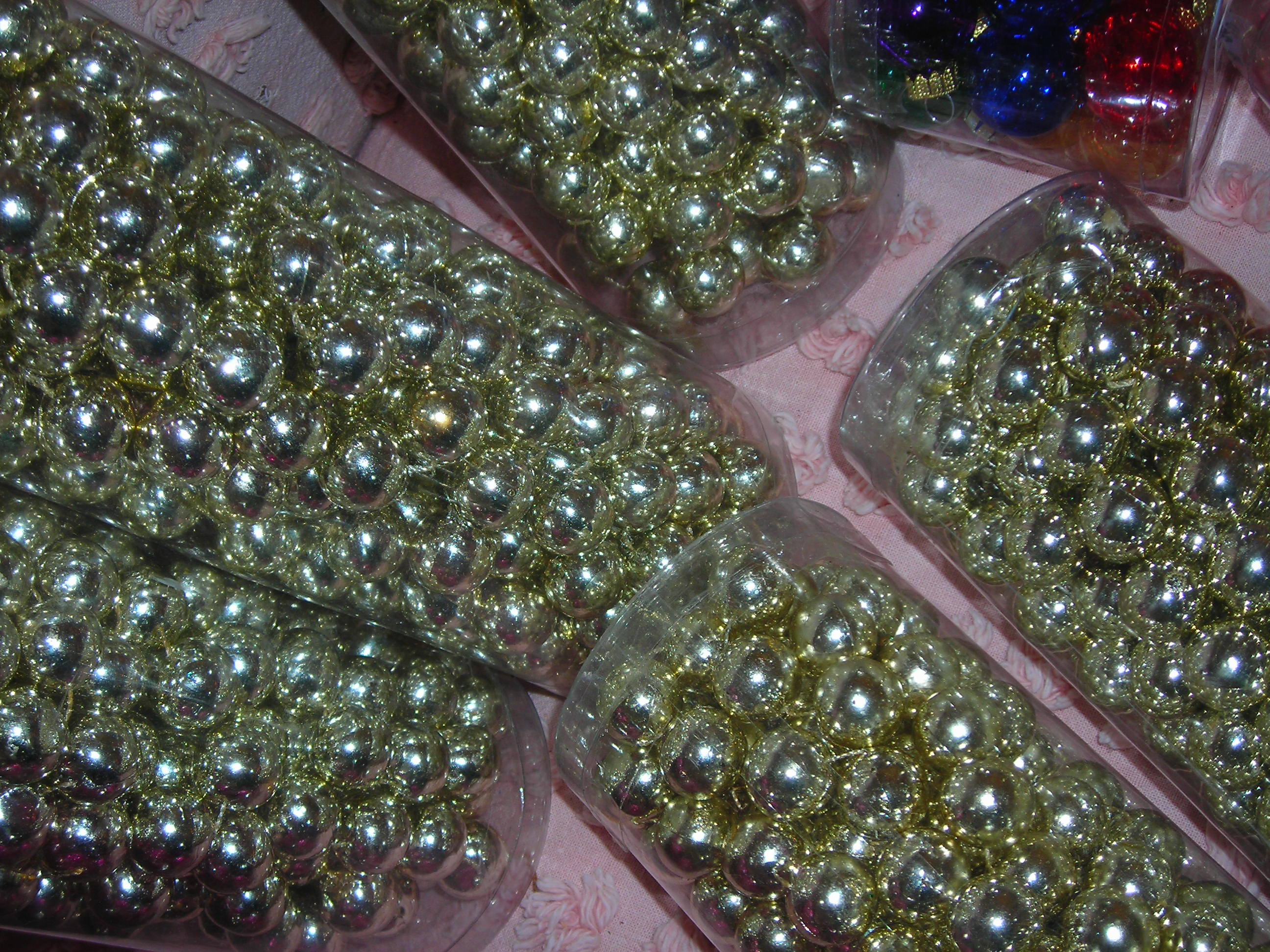strands and strands of beads, each 15' long! 40 cents each!