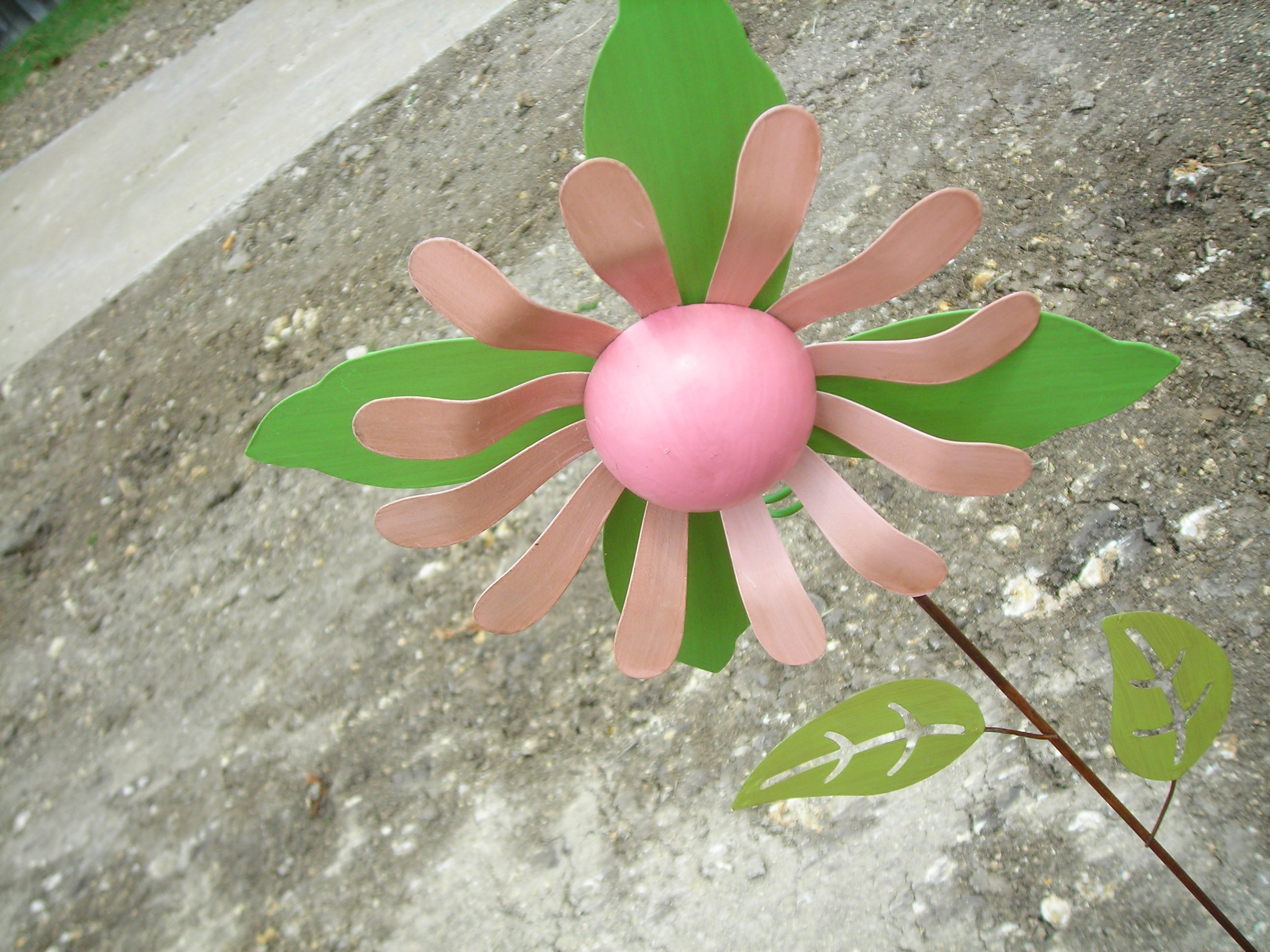 sweet pink metal flower from hobby lobby