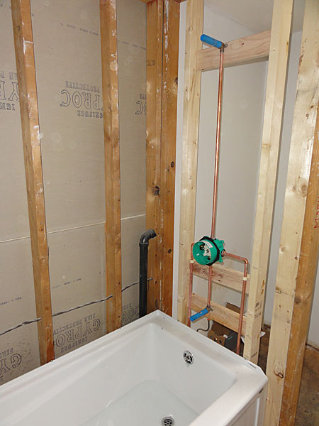 Acrylic Tub Installation With Hansgrohe Tub Shower Valve Terry Love Plumbing Amp Remodel DIY