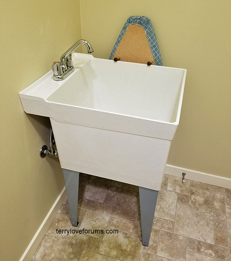 adding utility sink to laundry room