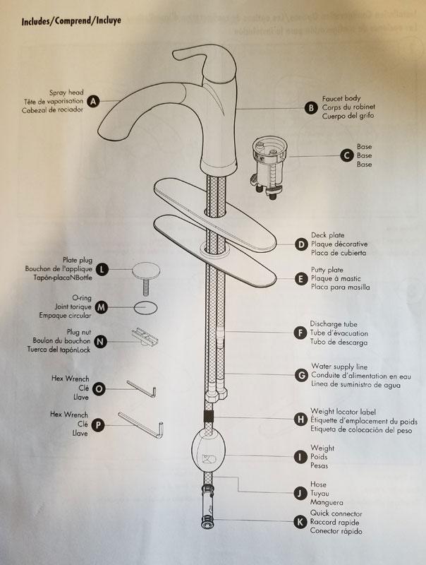 costco waterridge 906242 kitchen faucet