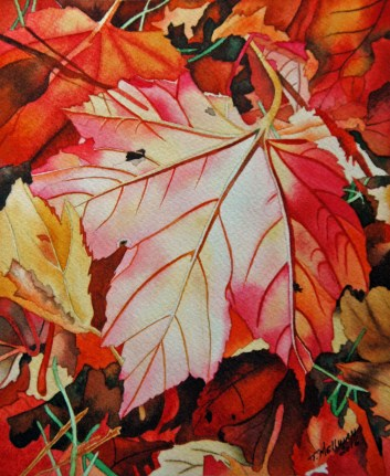Autumn Leaves 6 x 7.5 - Watercolor