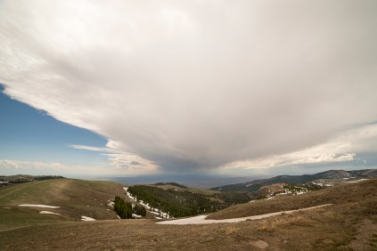 Interesting weather front over the Big Horn Mountains near Burgess Junction, Wyoming. © Terry Ownby