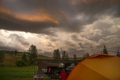 Storm at Base Camp.