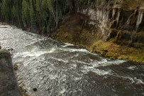 Henry's Fork of the Snake River at Mesa Falls, Idaho.