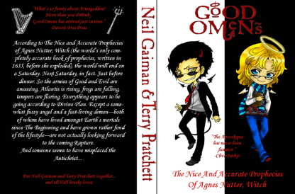 Good Omens Book Jacket by M-Shisaru