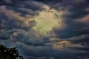 hole in clouds fantasy