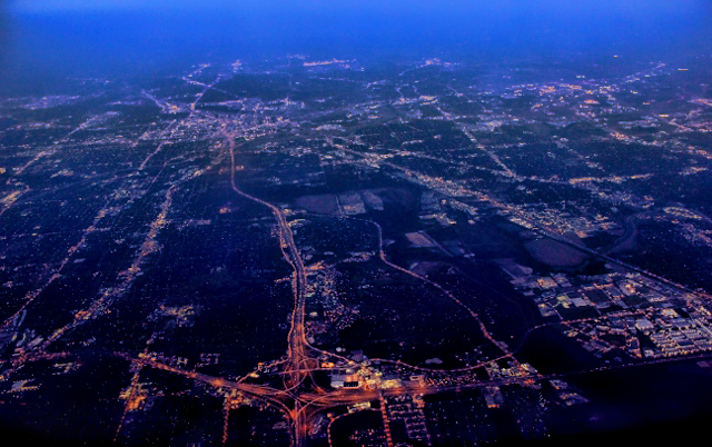 Dallas City Morning lightes