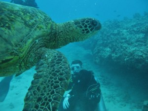 Blaine scuba diving and turtle Hawaii1 (640x480)