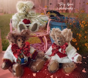 mohair bears sold 002 honeysuckkle, airy and light and red haze overlay (900x805)