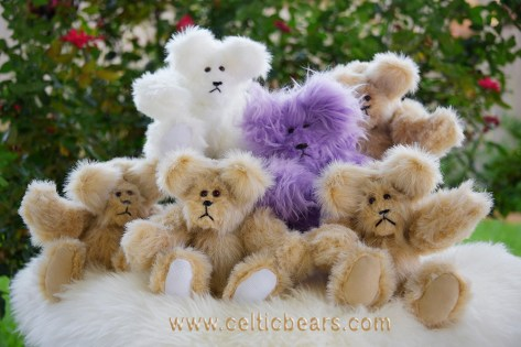 butterscotch, white, purple bears 1000 011