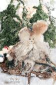 santa bears tapestry cloak, red fur hat 900 004