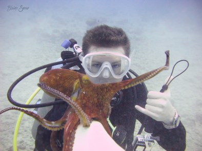 Blaine and the octopus