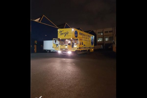 The bumble bee parked up ready to start the journey to France