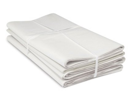a stack of white packing paper