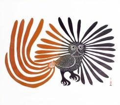Enchanted Owl by Kenoujouak Ashevak