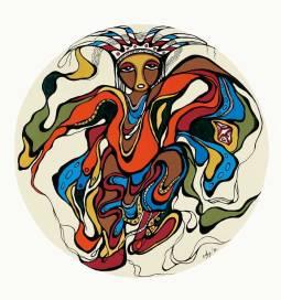 Pow Wow Dancer by Daphne Odjig