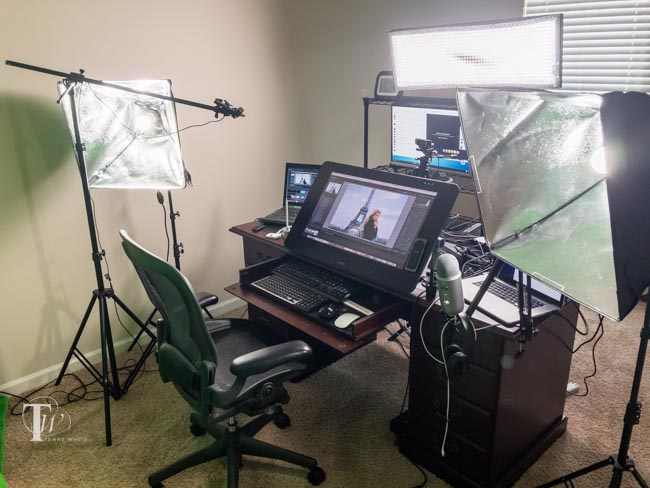 I Have Three Lights In My Setup The Main Light Is One Directly Front Of Desk Above Its A Westcott Flex 1 X 2 Daylight Mat