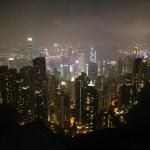 香港、ピークタワーの夜景