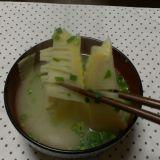 竹の子のみそ汁