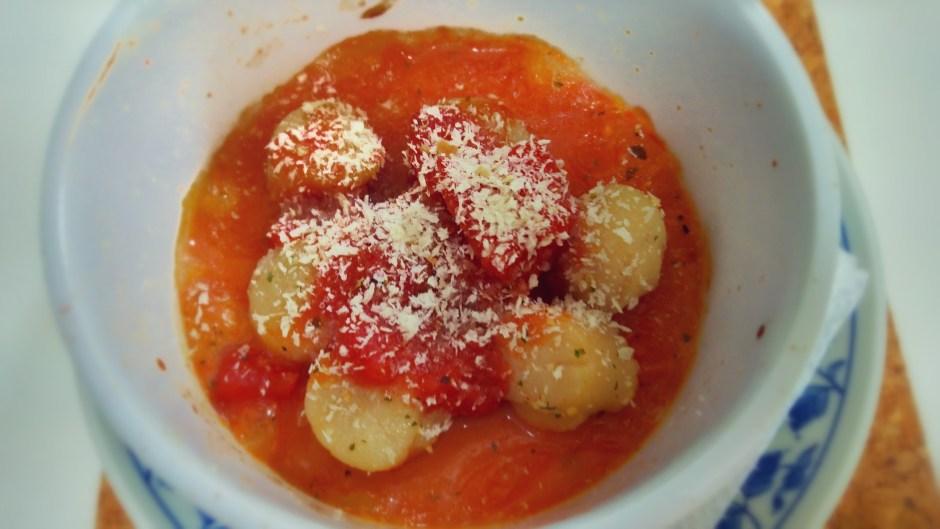 ホタテのトマトかけ
