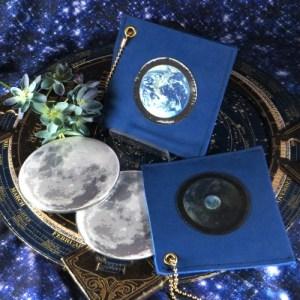 レンチキュラー地球と月のミラーケース