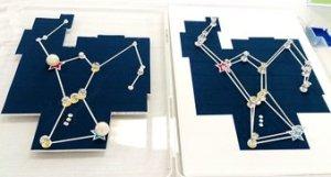 オリオン座の触ってわかるUDユニバーサルデザイン天文星座模型