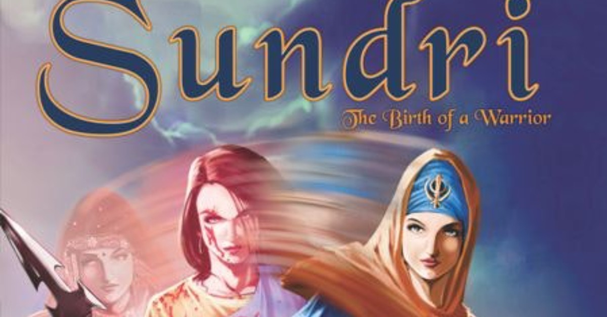 Sundri Comic Book Cover with Sikh warrior woman
