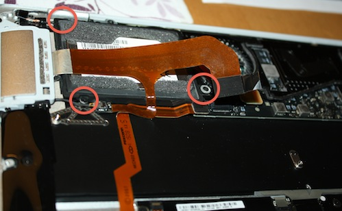 Hard drive mounting screw positions