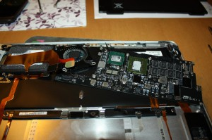 Removal of logic board