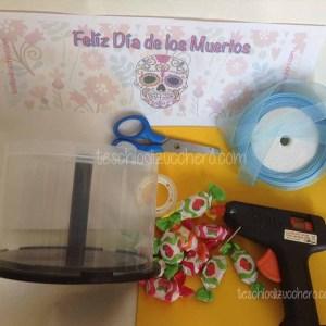 Materiale - Riciclo Contenitore CD - Dia de Muertos01