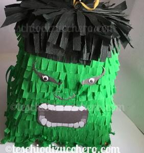 Pinata festa di compleanno a tema hulk
