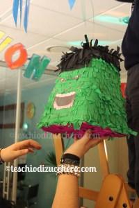 festa compleanno tema hulk - pignatta