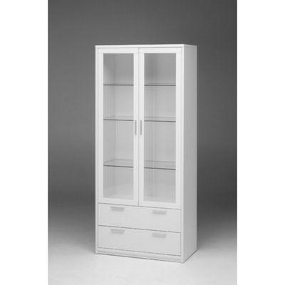 Buy Tvilum Viiwa Two Glass Door China Cabinet White From