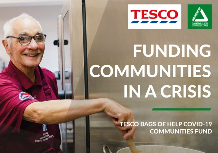 Front cover image for the funding communities in a crisis report
