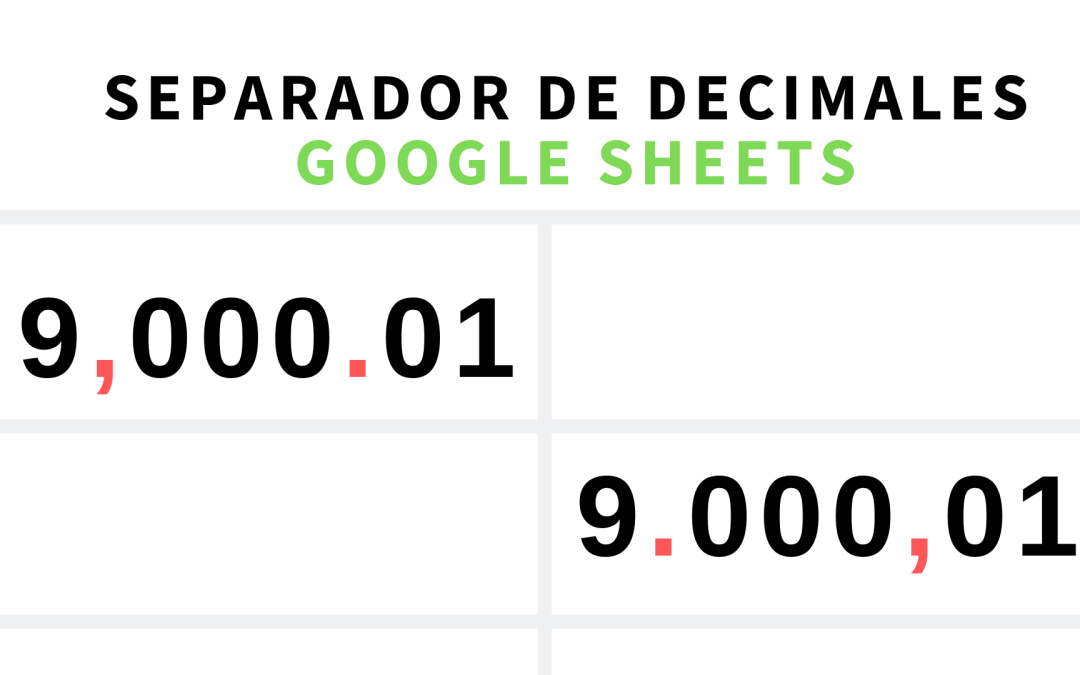 Configurar separador de decimales con comas y puntos dependiendo de tu país en Google Sheets