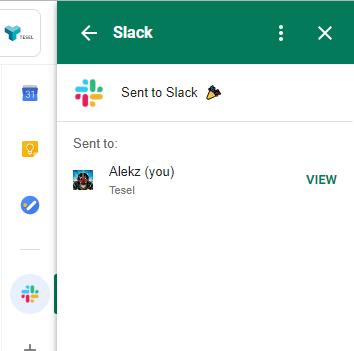 Correo de Gmail enviado exitosamente a Slack
