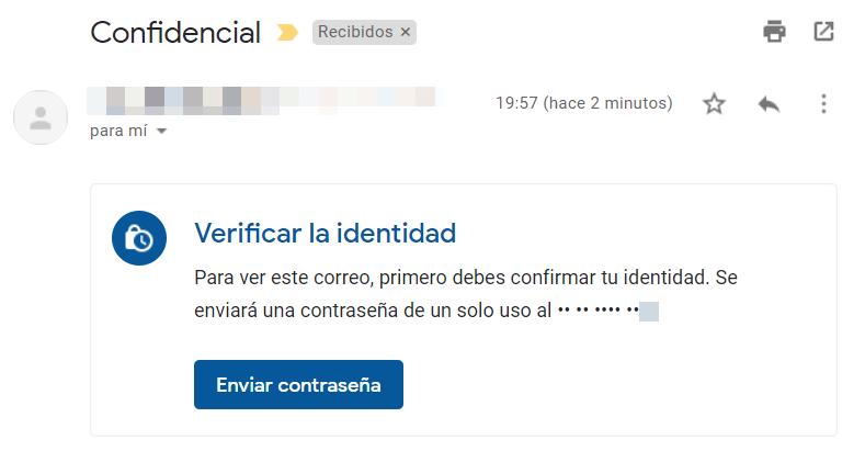 Verificar identidad por contraseña en SMS