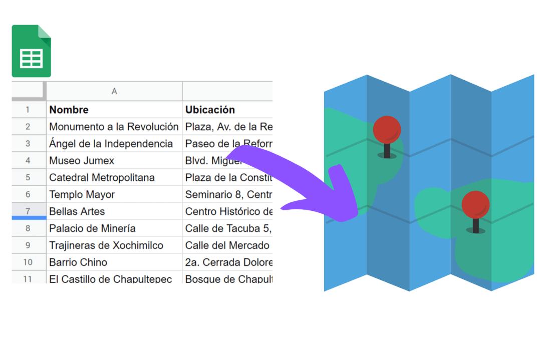 Crear un mapa en Google Maps a partir de una hoja de cálculo de Google Sheets