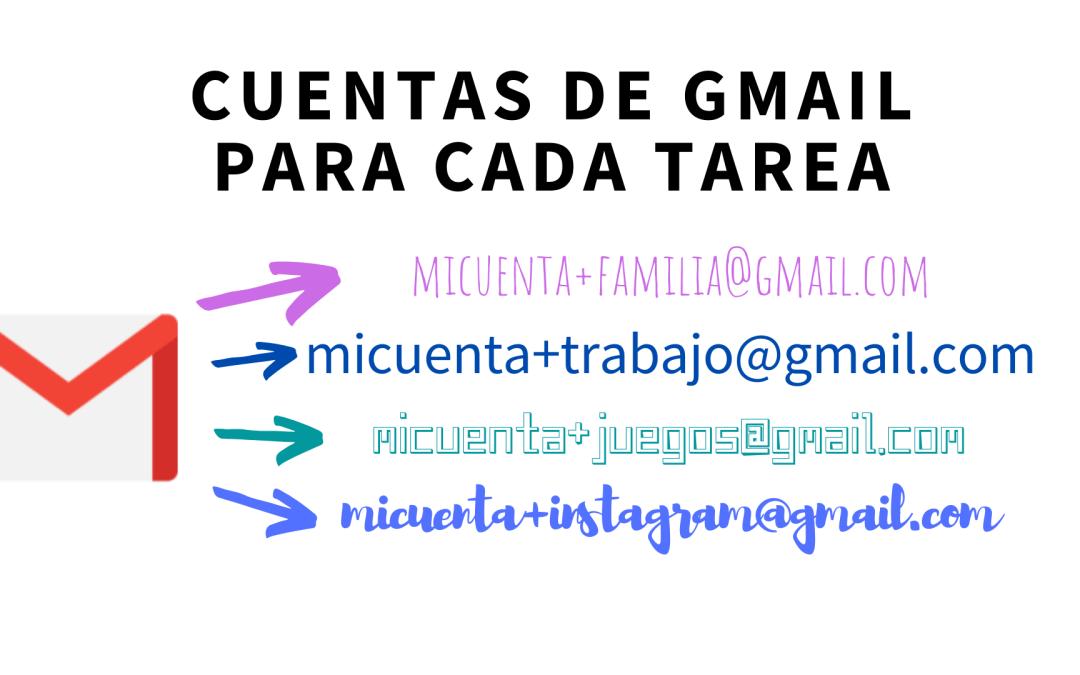 Cómo tener cuentas de Gmail específicas a cada tarea