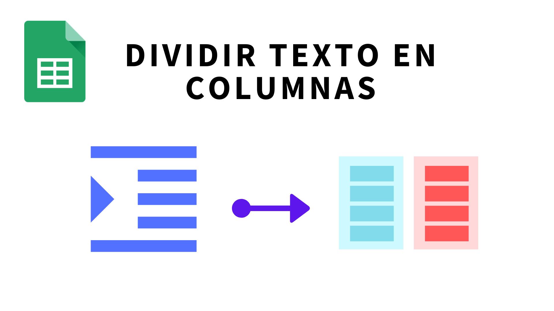 Cómo dividir texto en columnas en Google Sheets (Hojas de cálculo de Google)