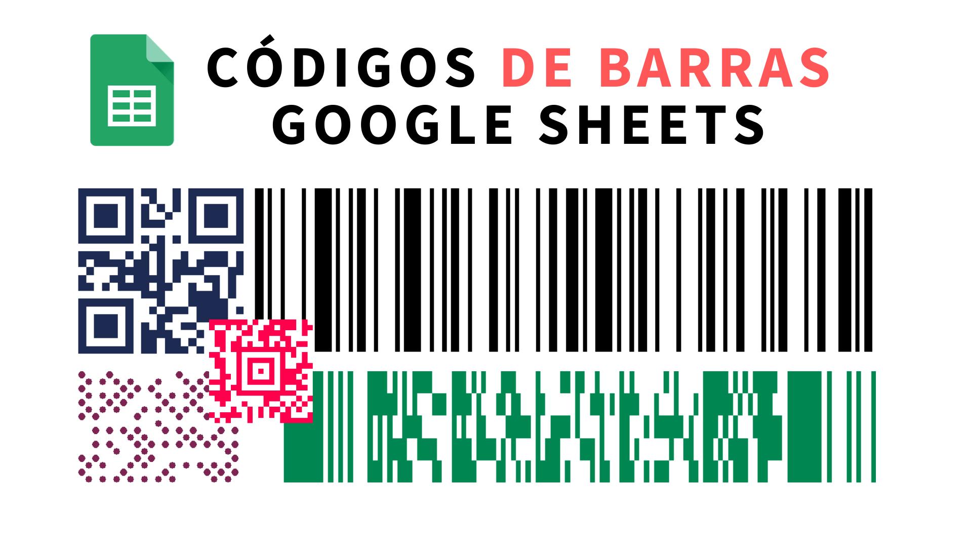 Generar diferentes tipos de códigos de barras 1D, QR, etc en hojas de cálculo de Google Sheets