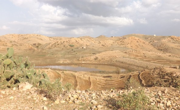 Nakfa, Eritrea.  Micro dam at the beginning of the rainy season; it's used for irrigated farming.