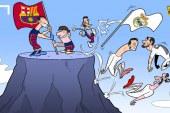Karikatura që përshkruan vitin 2015
